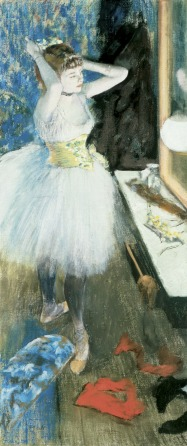File:Dancer in her Dressing Room (danseuse Dans Sa Loge) pastel and peinture à l'essence on canvas by Edgar Degas, c. 1879.jpg