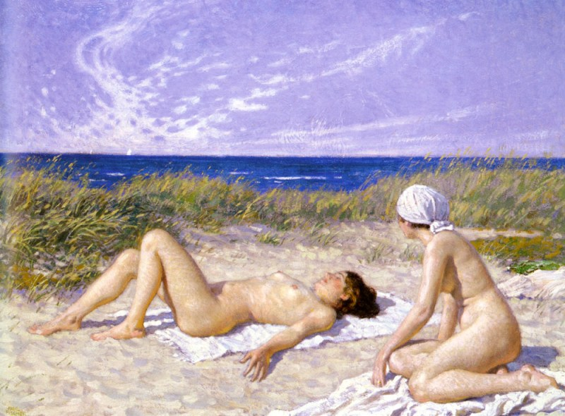 Fischer Paul Sunbathing In The Dunes.jpg