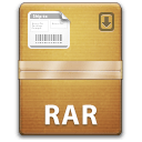 The Unarchiver rar icon.