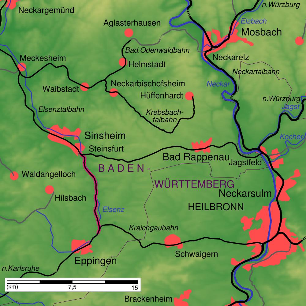 Bahnstrecke Steinsfurt Eppingen Wikipedia
