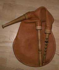 Traditional Swedish bagpipes, säckpipa, made by Leif Eriksson