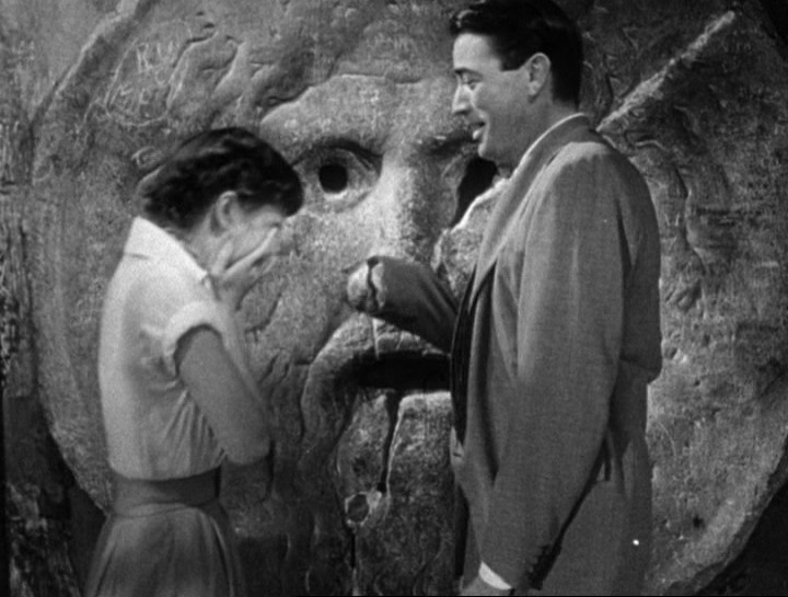File:Audrey Hepburn and Gregory Peck at the Mouth of Truth Roman Holiday trailer.jpg