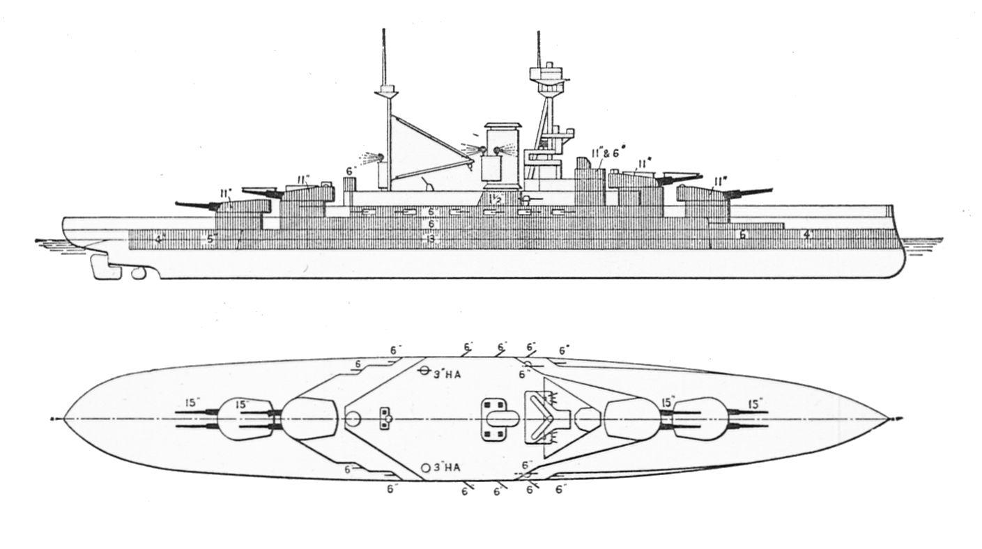 File British Royal Sovereign Class Battleships Outline