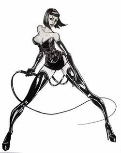 Desenho de uma dominatrix.