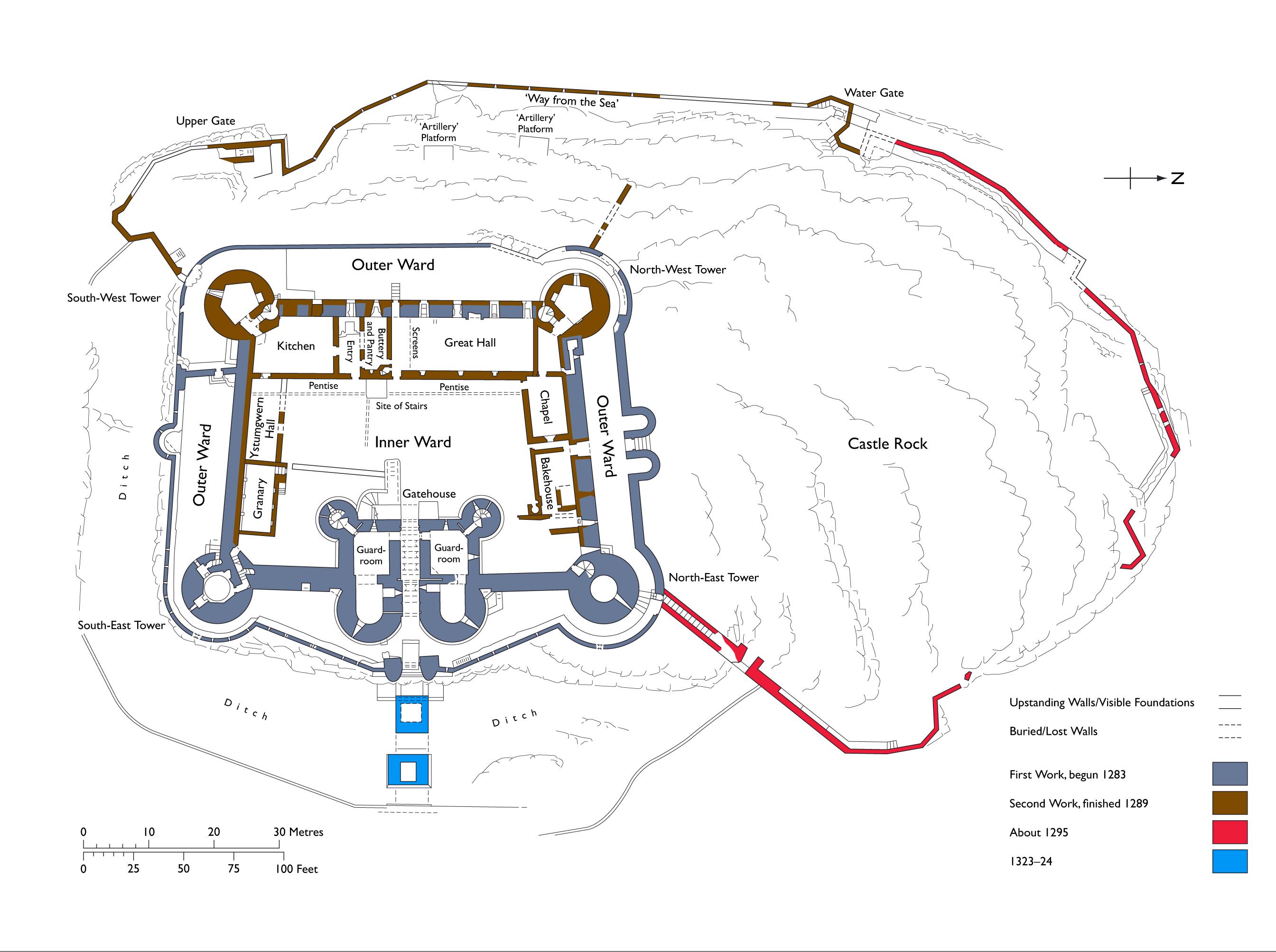 Delwedd Harlech Castle Plan