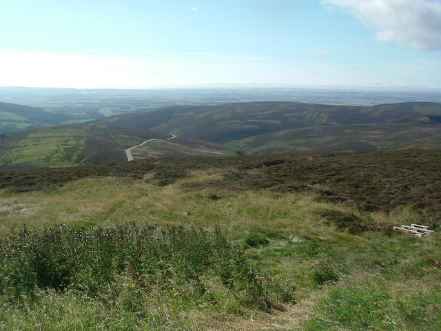 View of the Mearns standing on the Mounth facing south