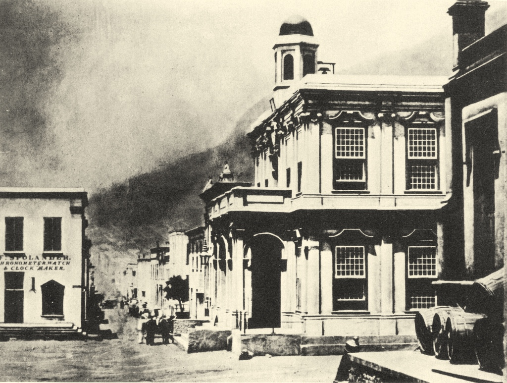 File Early Photo Of Cape Towns Townhall And Longmarket