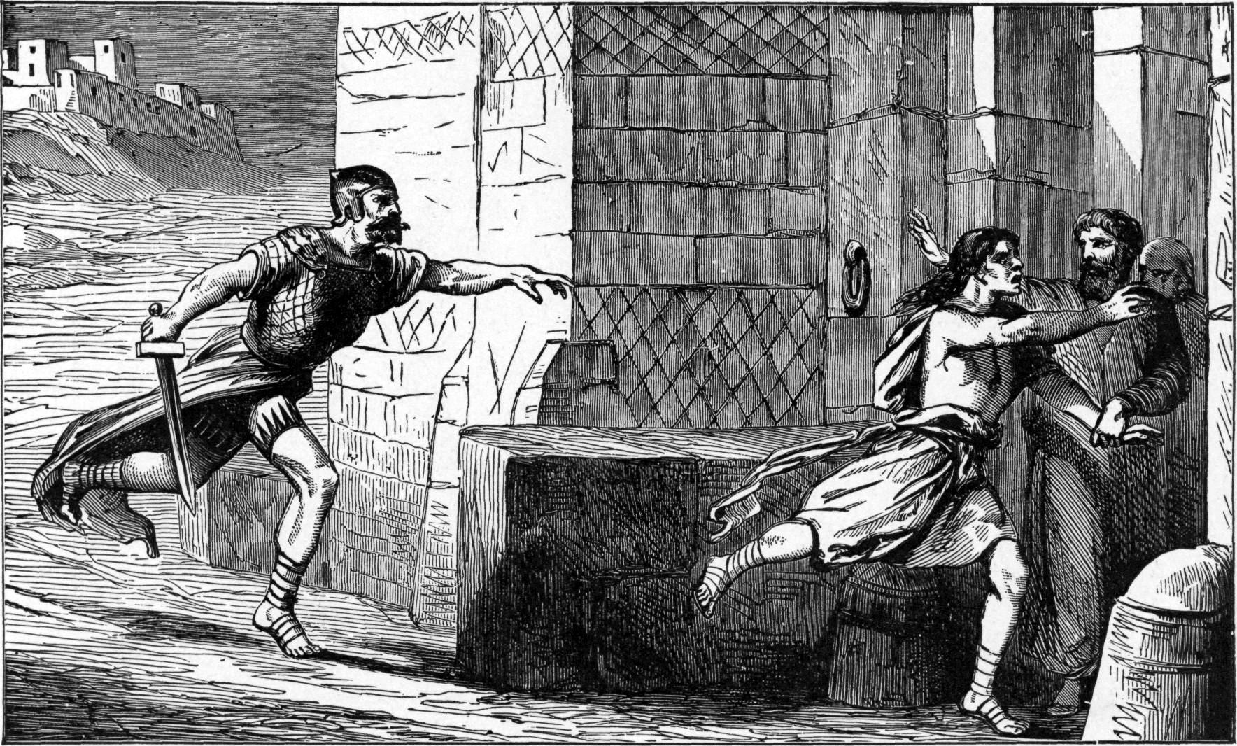 Charles Foster Drawing - Running to the City of Refuge (Wikimedia Commons)