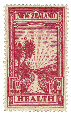 English: New Zealand postage stamp, 1933: Public health.