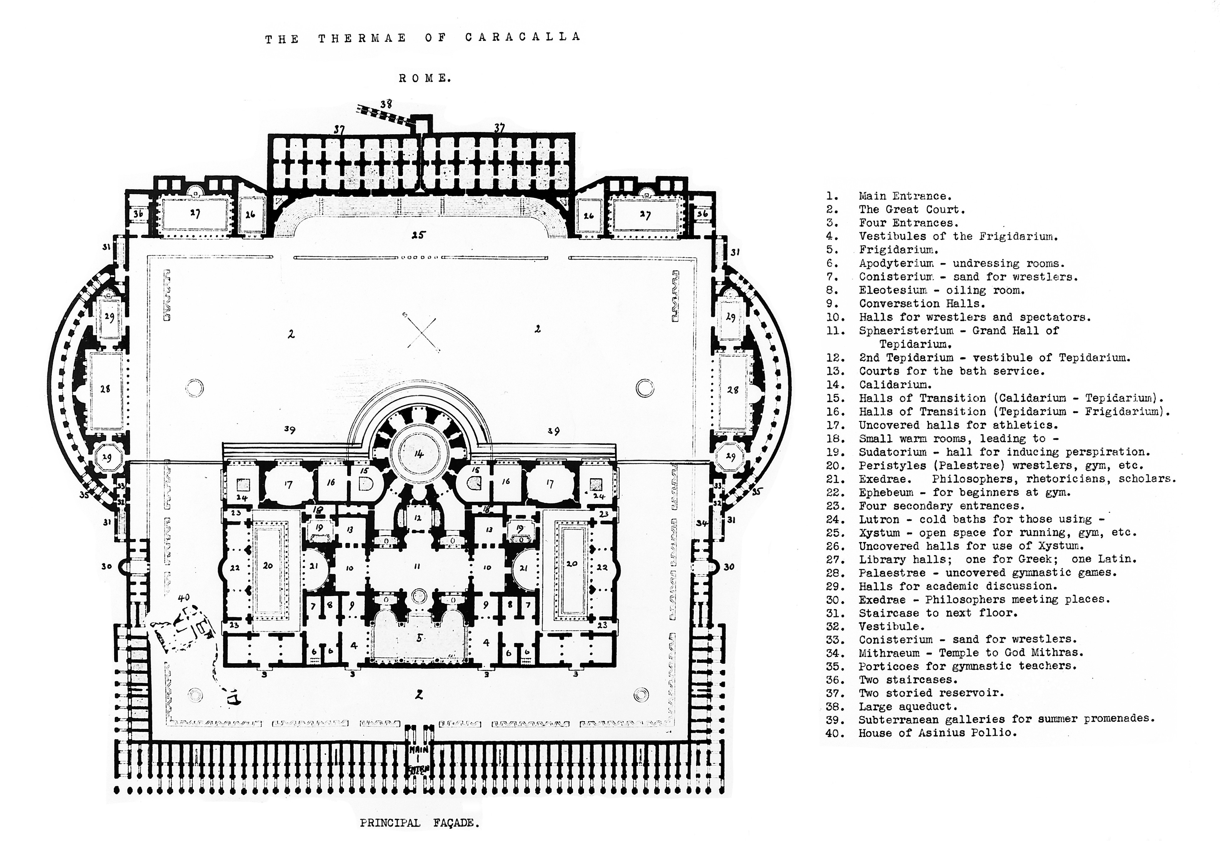 Hidden History The Baths Of Caracalla Wandering Jana