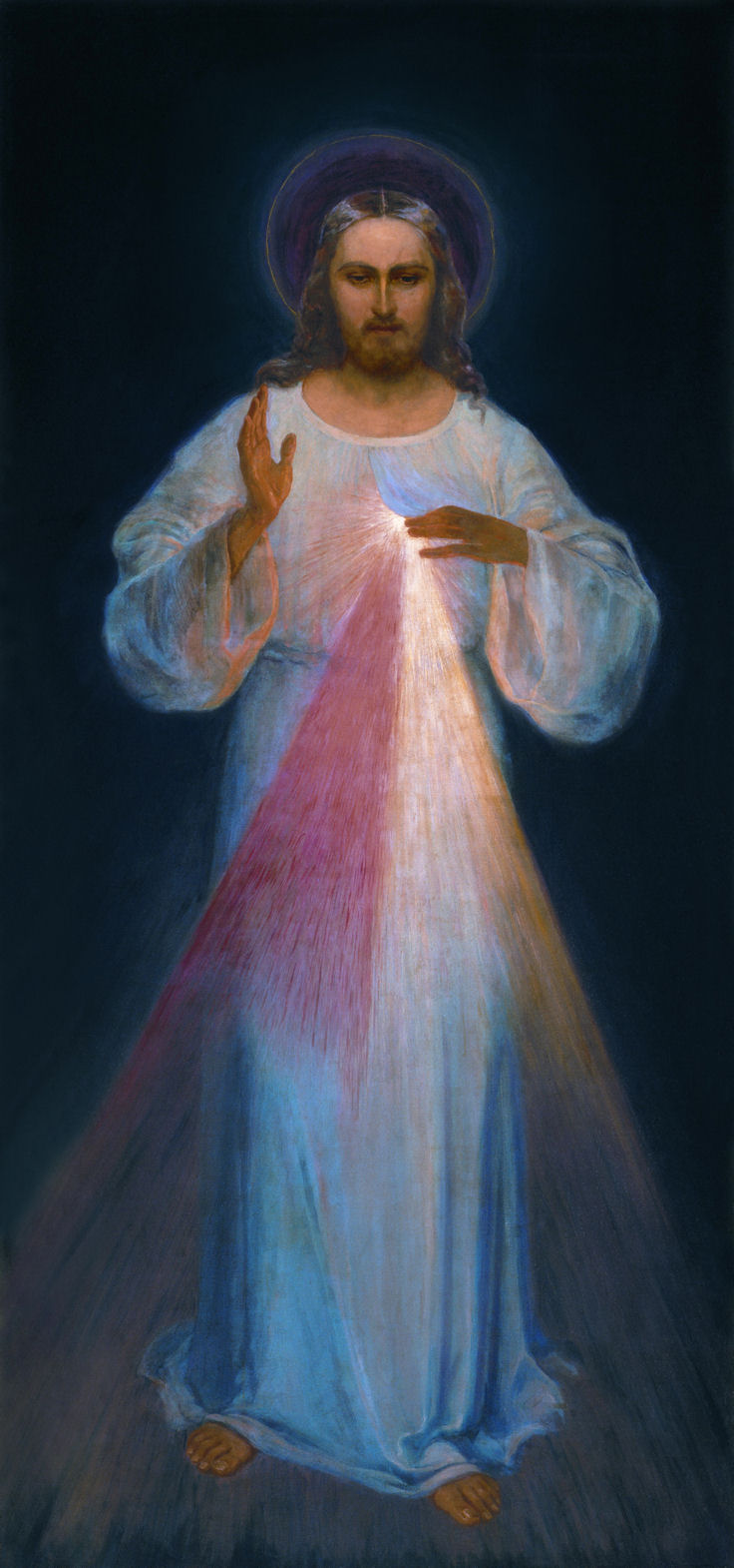 Divine Mercy (painting by Kazimirowski - the first version)