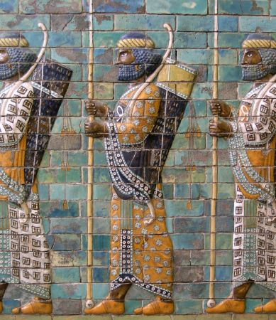 Photo of Persian archers from the Palace at Susa