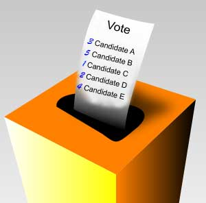 Ballot Box showing preferential voting