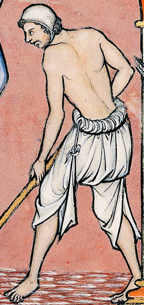 13th century peasant working in the fields without shoes.