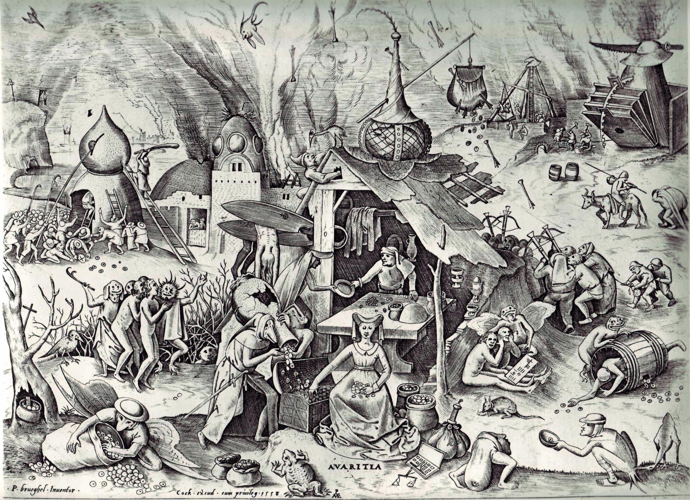 Avarice, by Bruegel