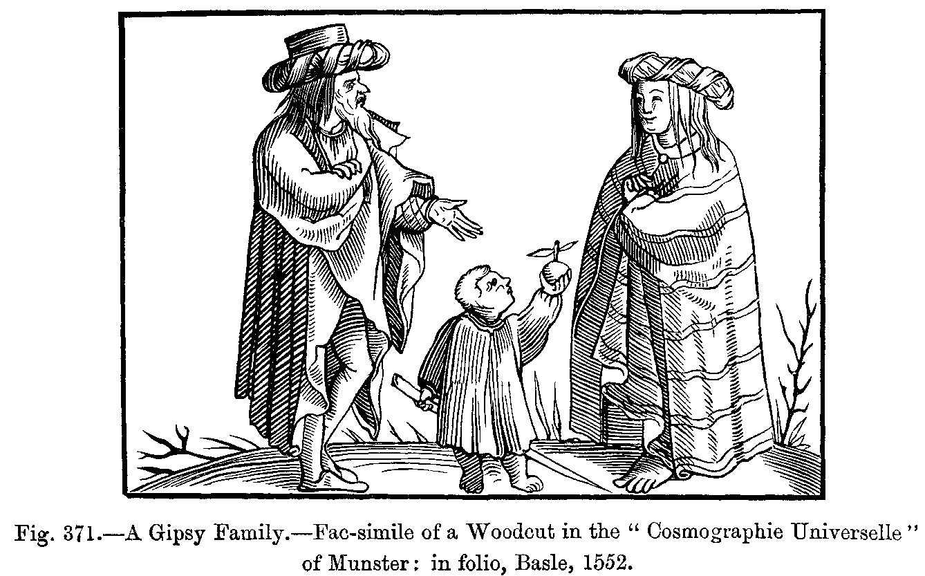 File A Gipsy Family Fac Simile Of A Woodcut In The