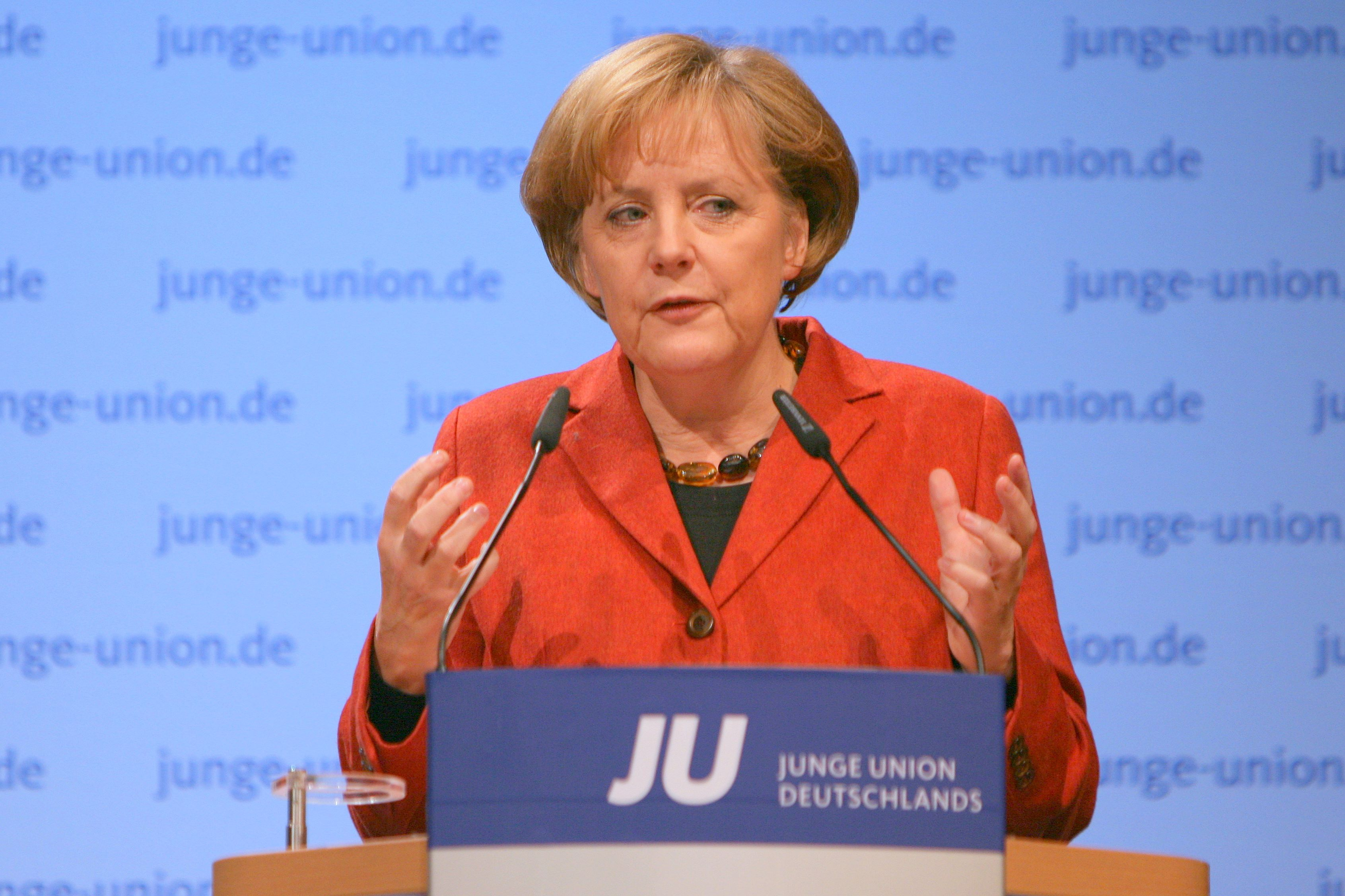 English: German Chancelor Dr. Angela Merkel De...