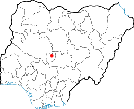 Location of Abuja in Nigeria