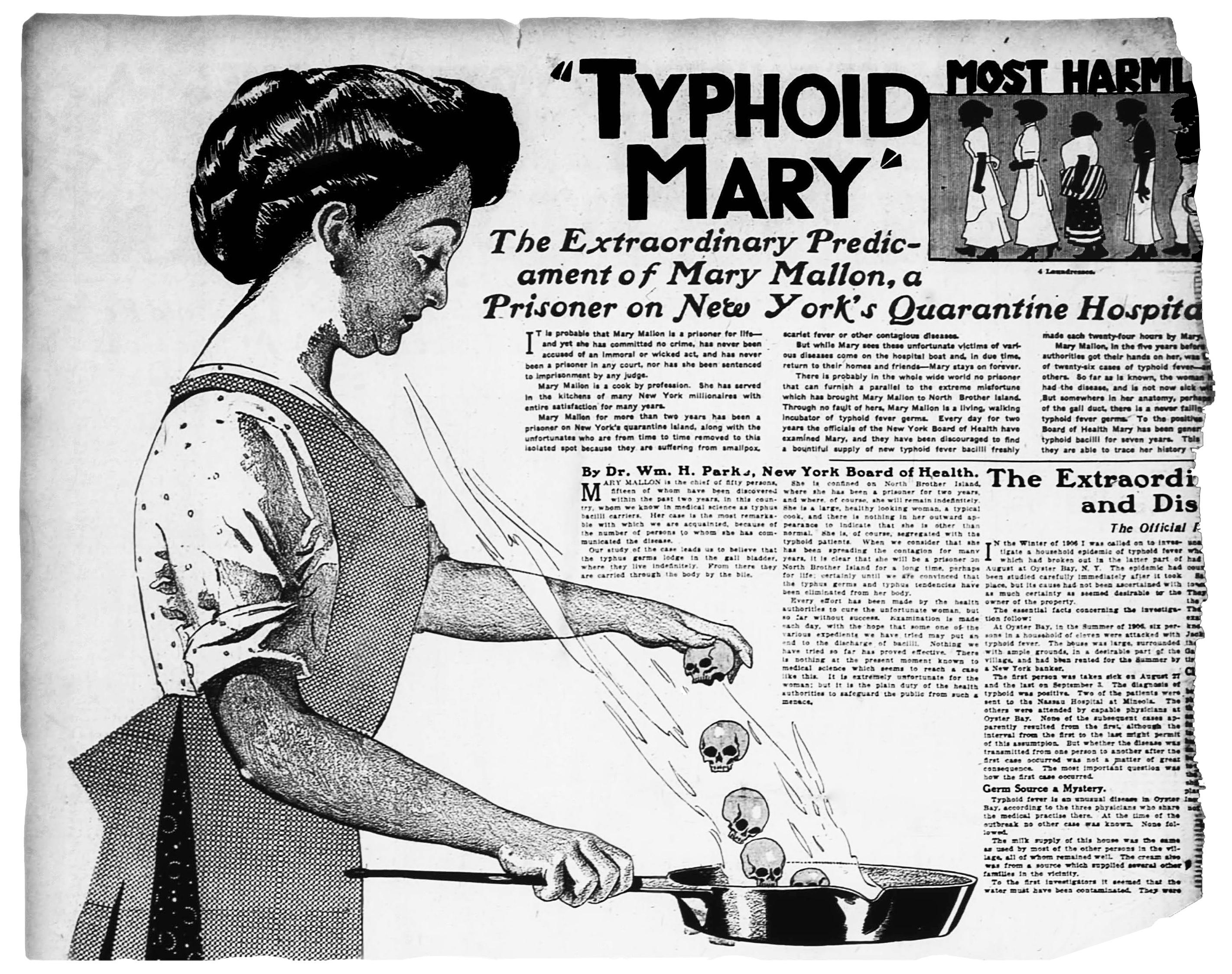 Mary en una ilustración de un periódico en 1909.