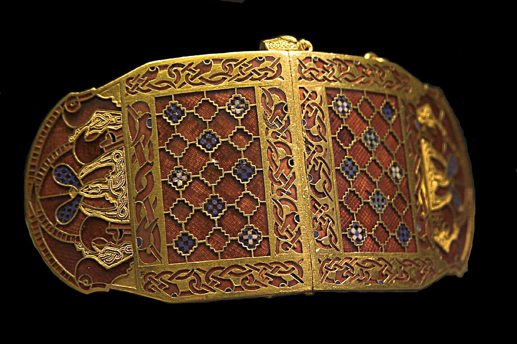 Shoulder clasp for an Anglo-Saxon King, 7th Century.