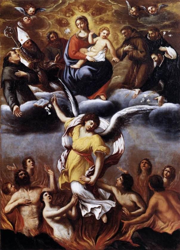 Ludovico Carracci (1555-1619), Het vagevuur.
