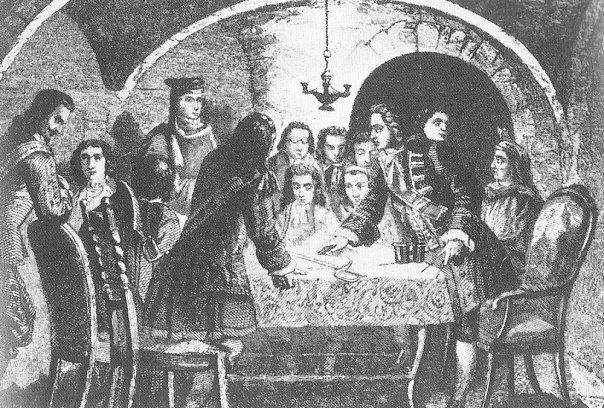 Junta de guerra. 1714. Villarroel. Casanova