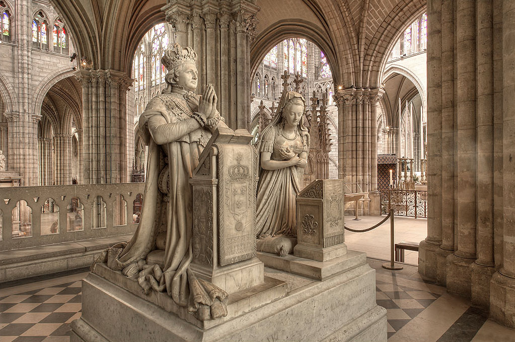 The funerary monuments of Louis XVI and Marie Antoinette.