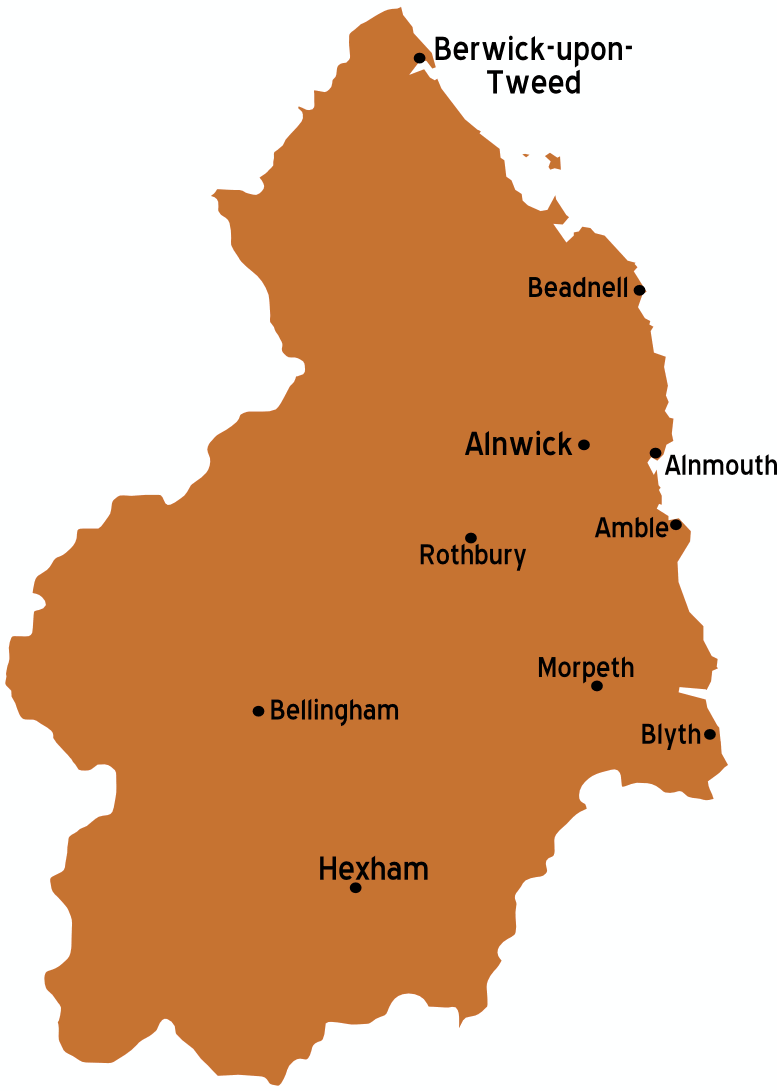 Map Scotland And England Towns