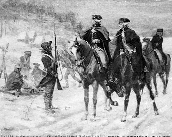 General George Washington & the Marquis de Lafayette