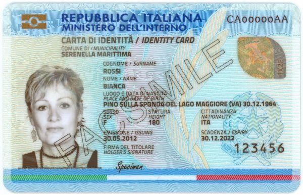 Carta Didentità Elettronica Italiana Wikipedia