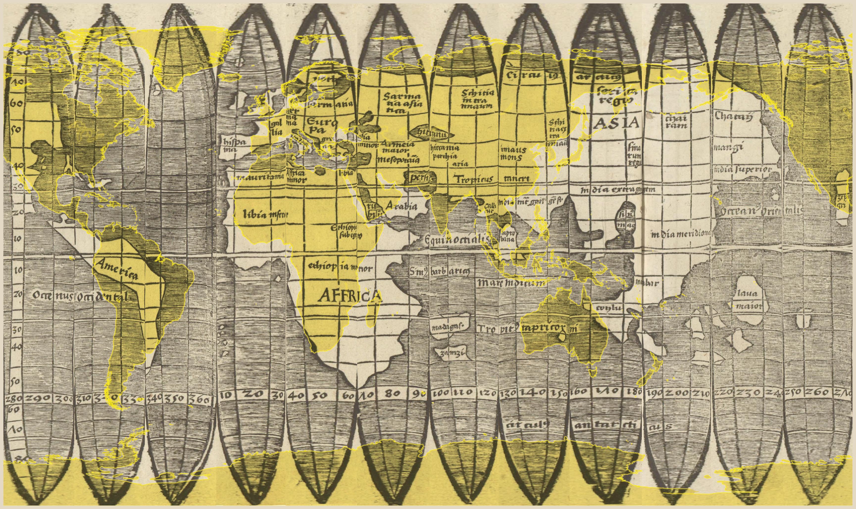 Datei Map Of The Waldseemuller Globe In Nearly Rectangular