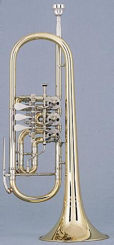 Trumpet in C, german model by Bernhardt Willen...