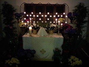 English: The Altar of Repose at St James Episc...