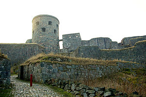 The castle ruin of Bohus near Göteborg in Sweden.