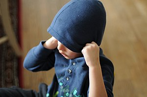 A child wearing a blue hoodie. Ottawa, Canada,...
