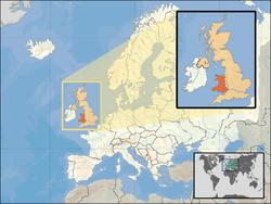 Localização do País de Gales