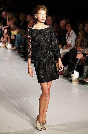 Nataliya Gotsiy modeling in Cynthia Rowley spr...