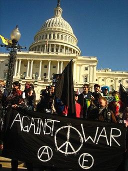 J27 black bloc at US Capitol with black banner