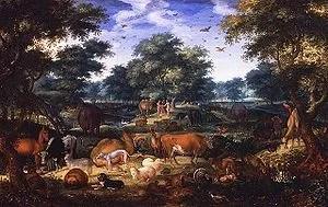 English: The Garden of Eden by Jacob Savery