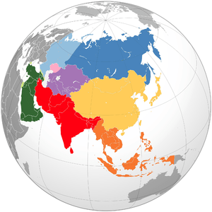 Geographical Subregions of Asia: