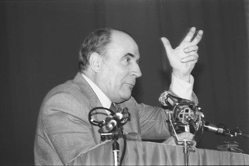 Meeting François MITTERRAND Caen 1981