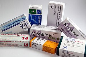 Methylphenidate packages from several german g...
