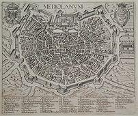 Map of Milan, 1621.