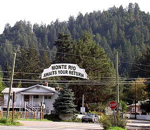 leaving Monte Rio, California eastbound on &qu...