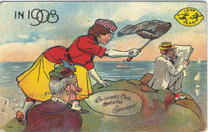 English: Postcard: Leap Year, 1908 Description...