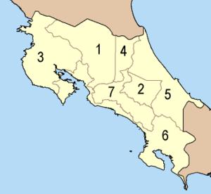 Provinces of Costa Rica