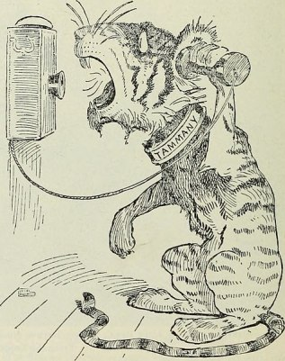 tiger on telephone