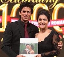 Shah Rukh Khan hugs Kajol