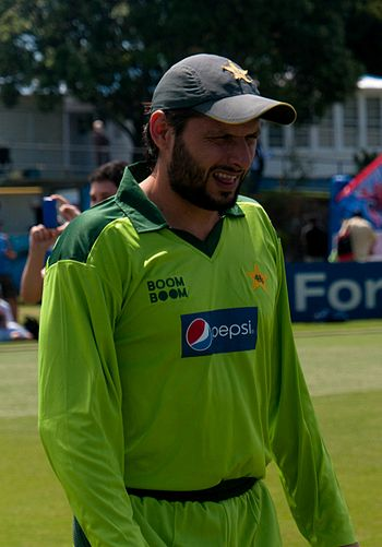 Shahid Afridi during Pakistan's tour of New Ze...