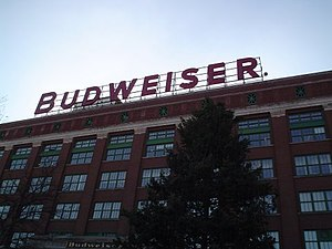 The packaging plant at the Anheuser-Busch head...